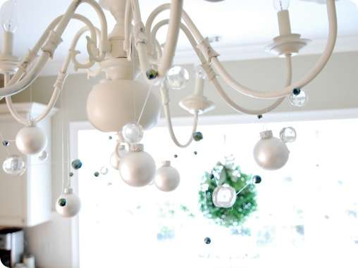 marbles and bead garland