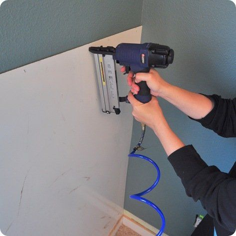 brad nailer apply panels