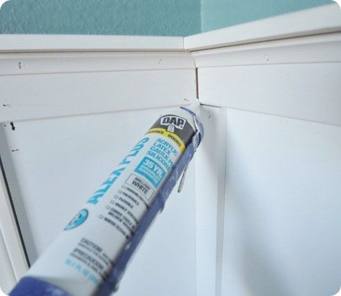 caulk seams