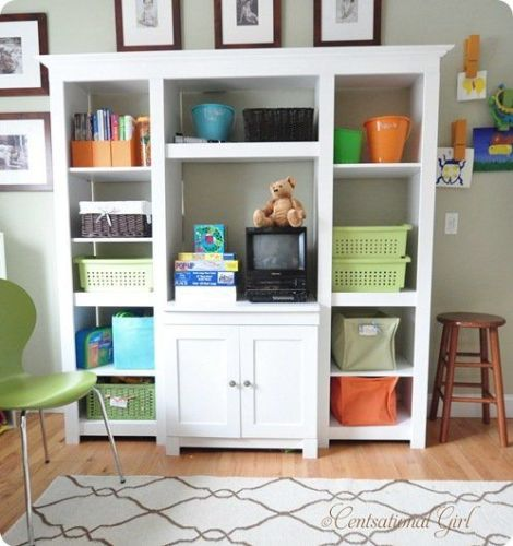 kids playroom media center