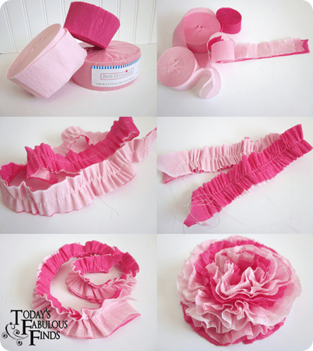 crepe paper flowers  todays fabulous finds