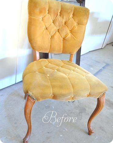 goodwill velvet chair before