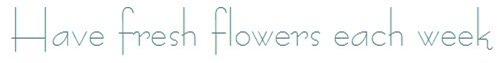 fresh flowers font