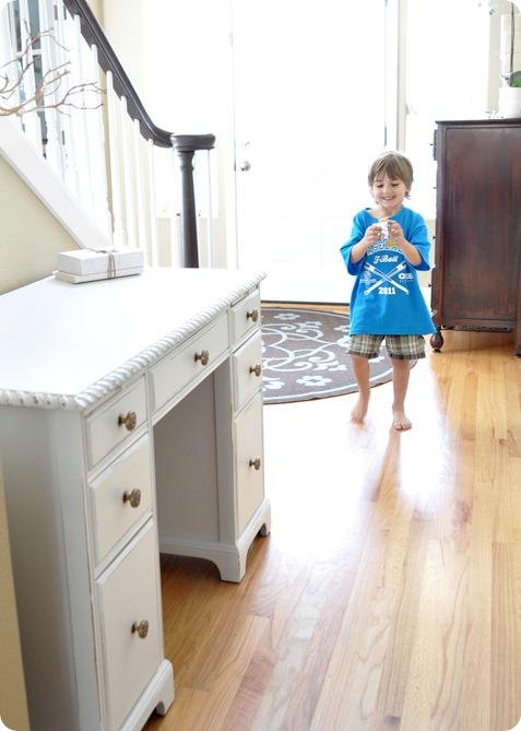little boy in entry