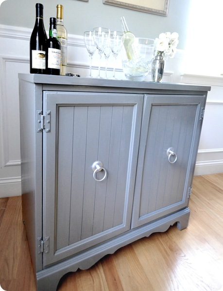bar cabinet side view