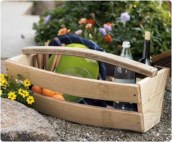 wine barrel basket