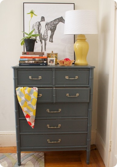 gray bamboo dresser