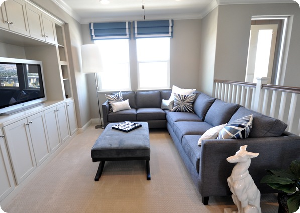 gray sectional loft