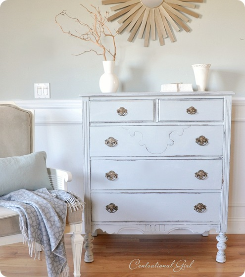 blue gray painted dresser cg