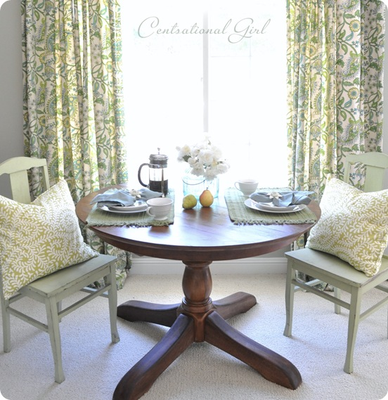 centsational girl refinished wood table
