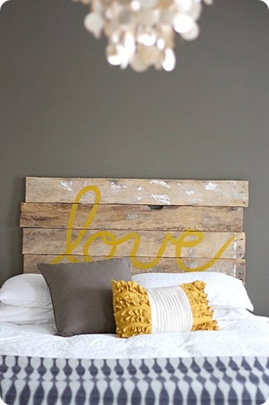 house tweaking rustic love headboard
