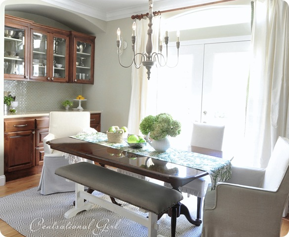 Nice kates dining room table and cabinets