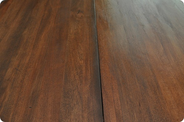 restained dark table top