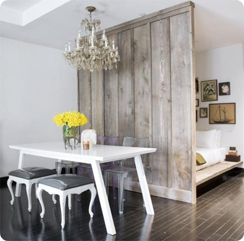 rustic wood wall divider apt therapy