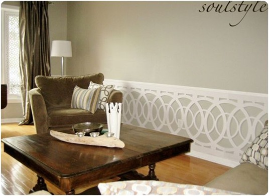 soul style.ca living room wainscot