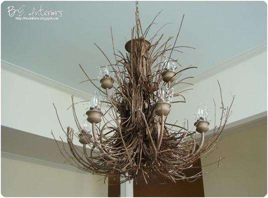 twig chandelier bee interiors blogspot