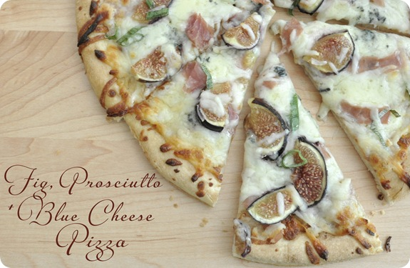 fig prosciutto blue cheese pizza