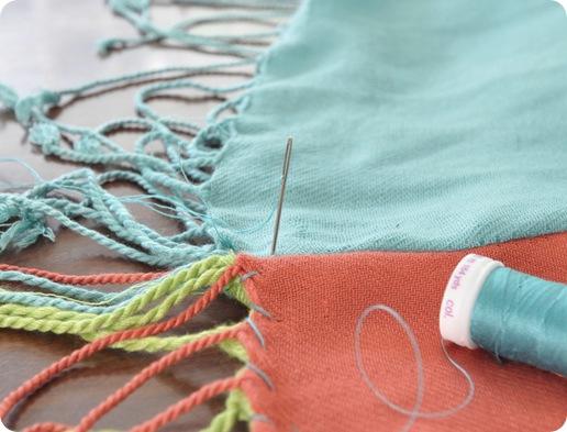 hand stitch together