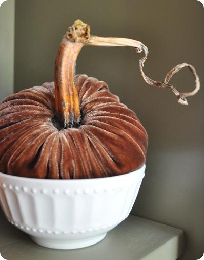 plush brown pumpkin