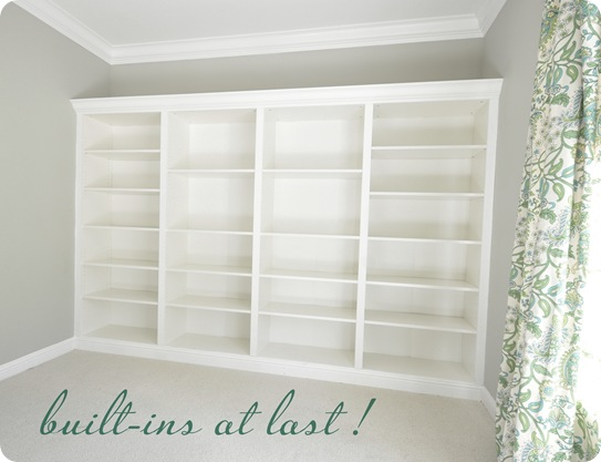 built in billy bookcases after text