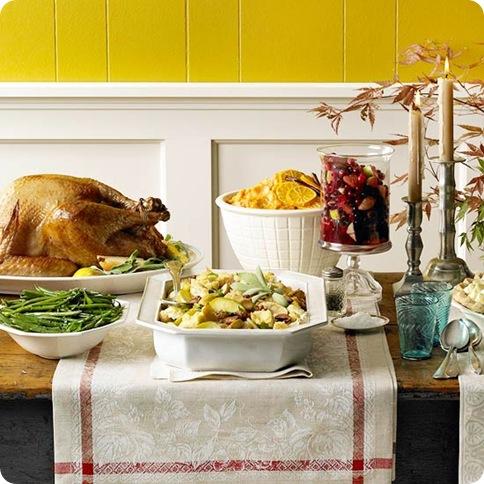 fall buffet table bhg