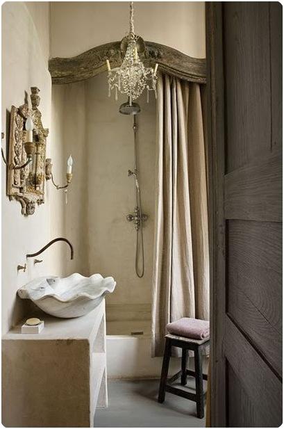 old world neutral bathroom