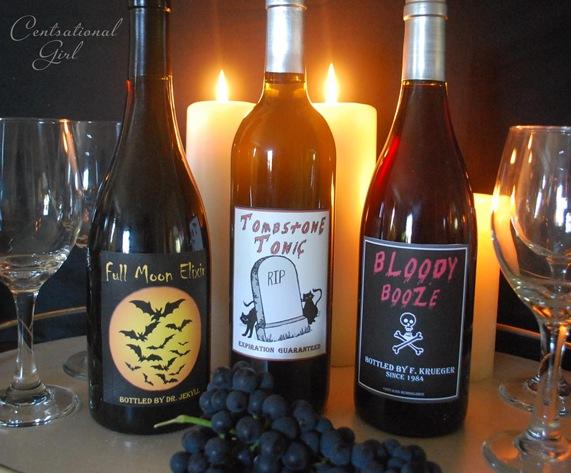 wine bottle labels cg