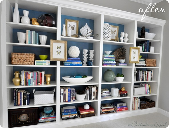 centsational girl bookcases after