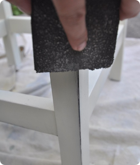 distress with sanding wedge