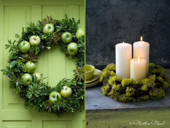 green wreaths matthew mead