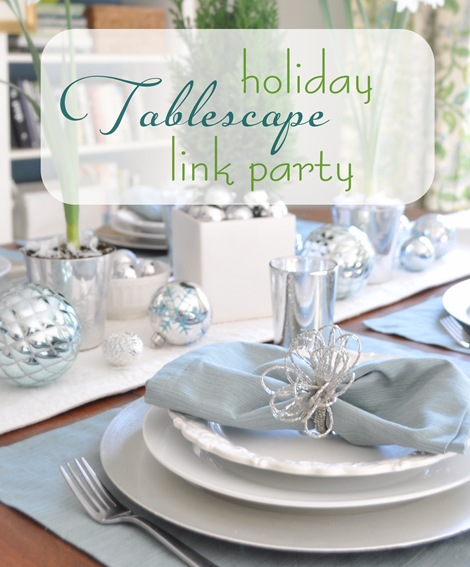 holiday tablescape link party
