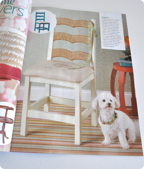 twine wrapped ladderback chair