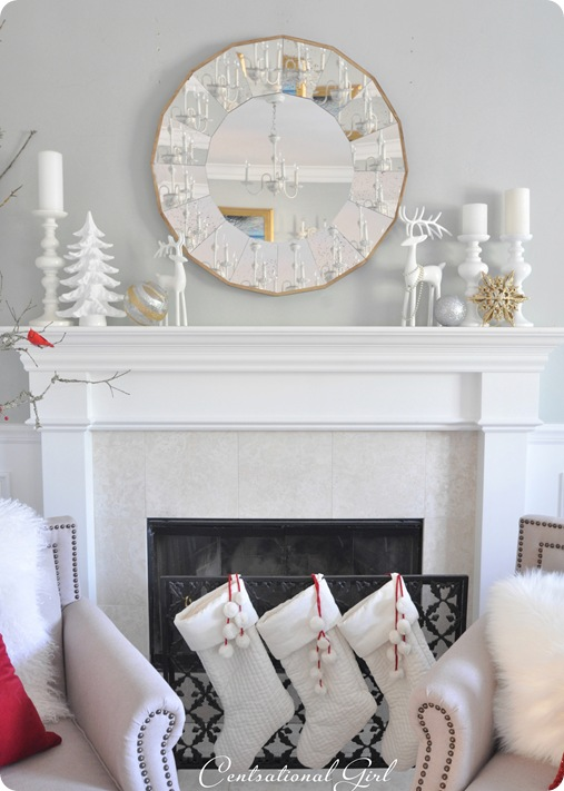 christmas mantel stockings