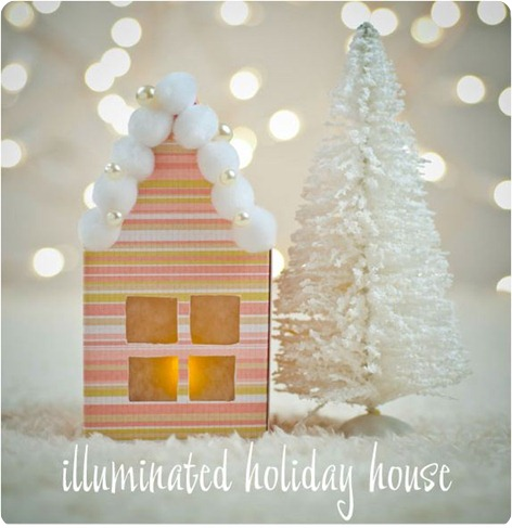 illuminated holiday house