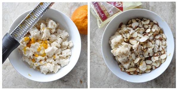zest and almonds