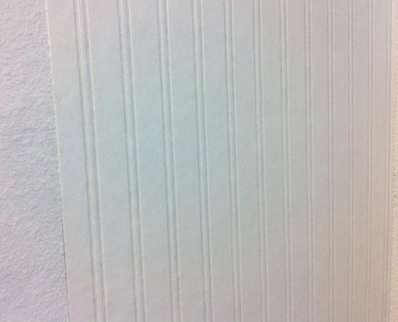 beadboard wallpaper on wall