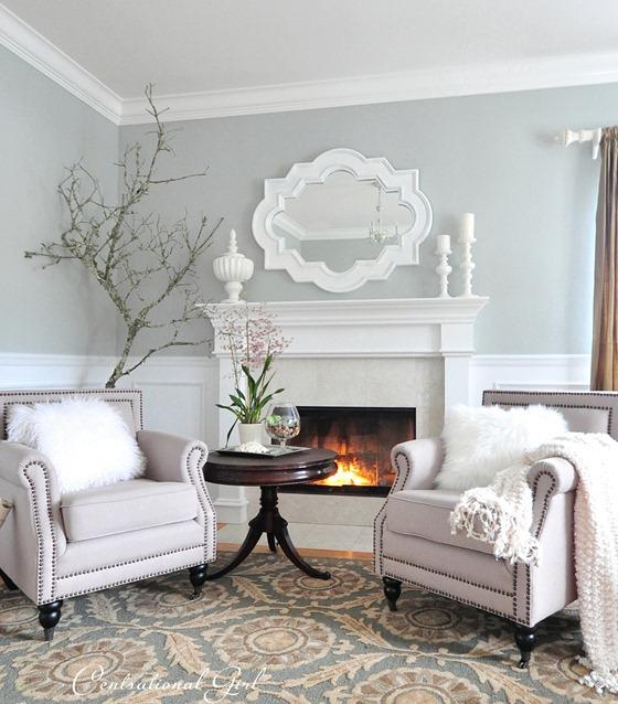 winter living room cg