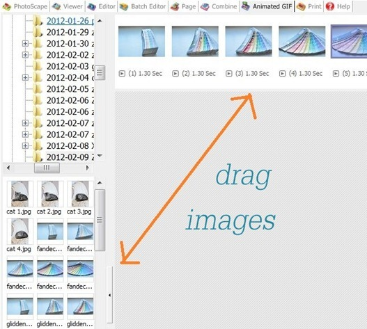drag to toolbar