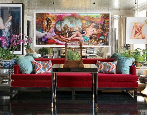pink velvet sofa via the lennoxx