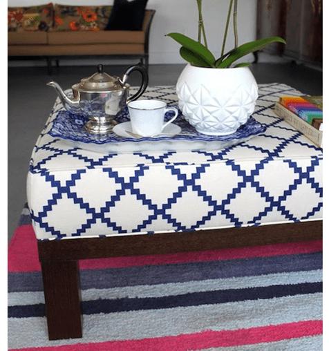 upholstered box cushion