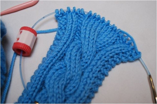 cable knit step 1