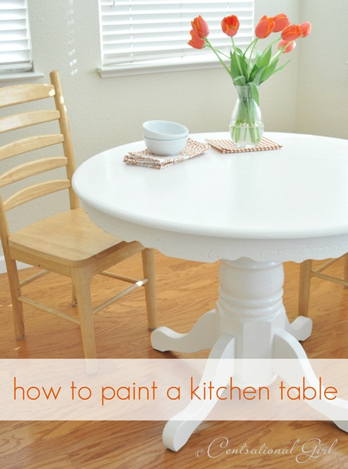 Painting A Kitchen Table Centsational Girl