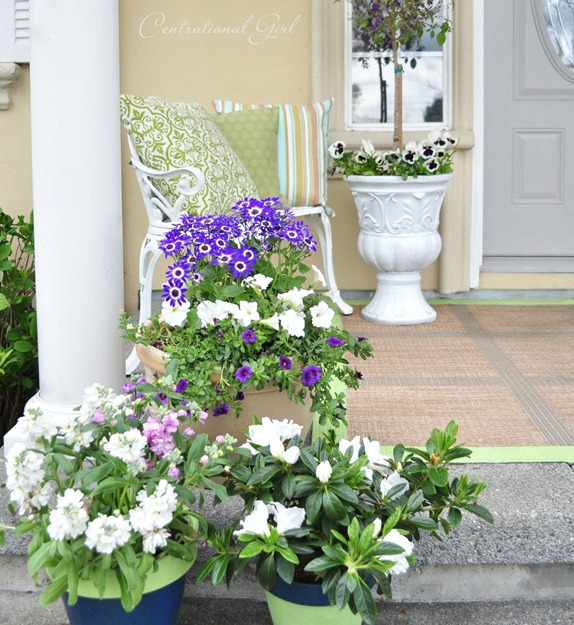 left side of spring porch