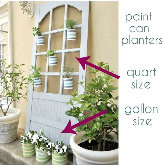 paint can planters gallon and quart size