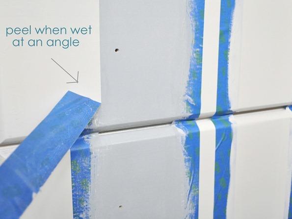 peel tape when wet