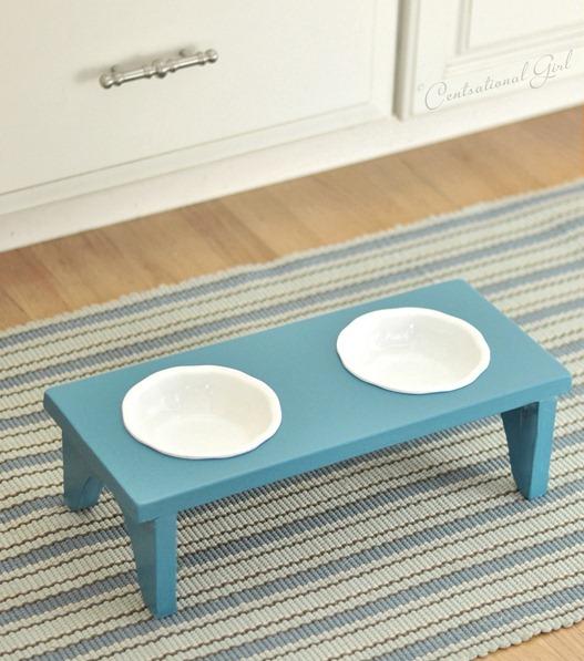 pet bowl stand diy