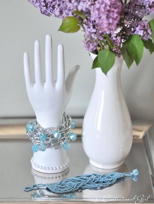 silver chain link bracelet cg