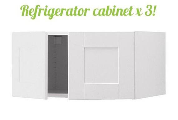ikea refridgerator cabinet