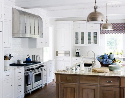 mixed cabinetry house beautiful