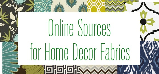 online sources for home decor fabric